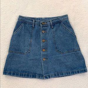 Yimeixuan Jeans 5 Button Jean Mini Skirt  Size M